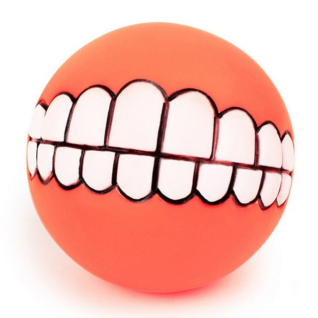 Funny Dog Chew Ball With Teeth