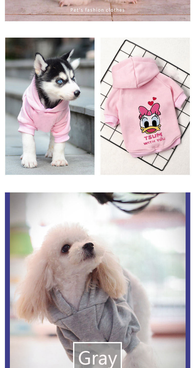 Dog Cartoon Winter Hoodie