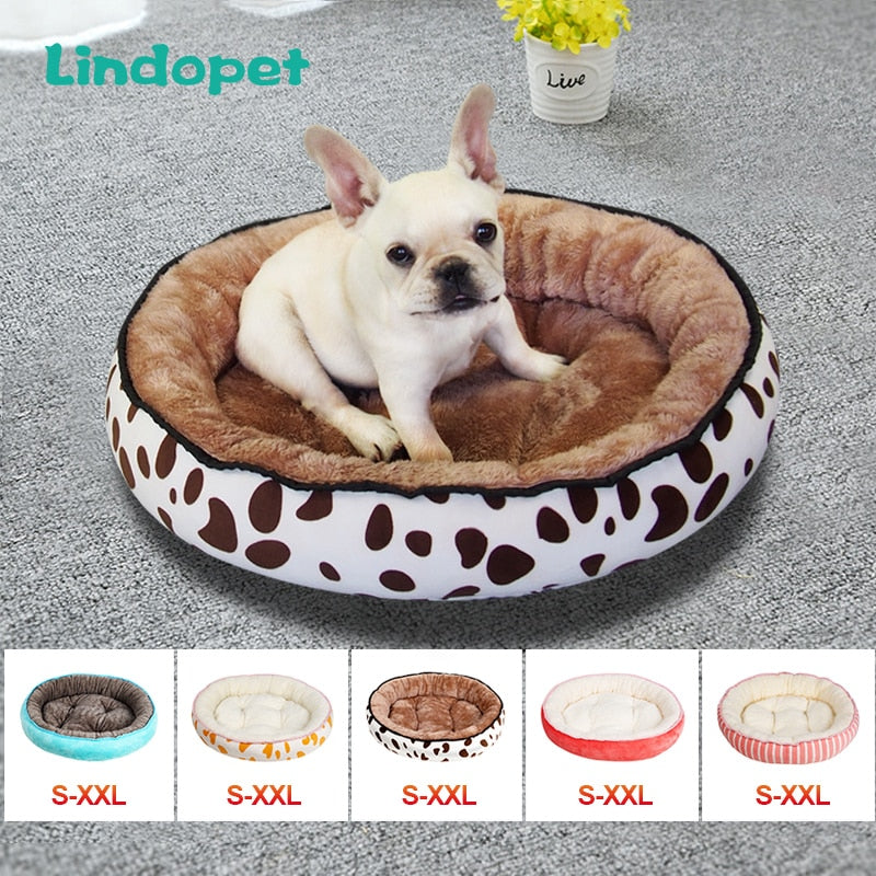Dog Bed With Extra Comfy Plush Rim Cushion and Nonslip Bottom