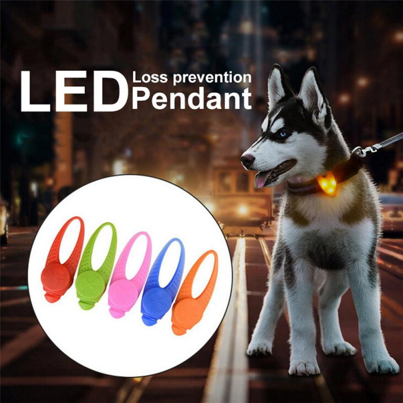 Dog LED Night Light Blinking Collar Pendant