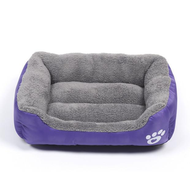 Waterproof Pet Paw Print Dog Bed