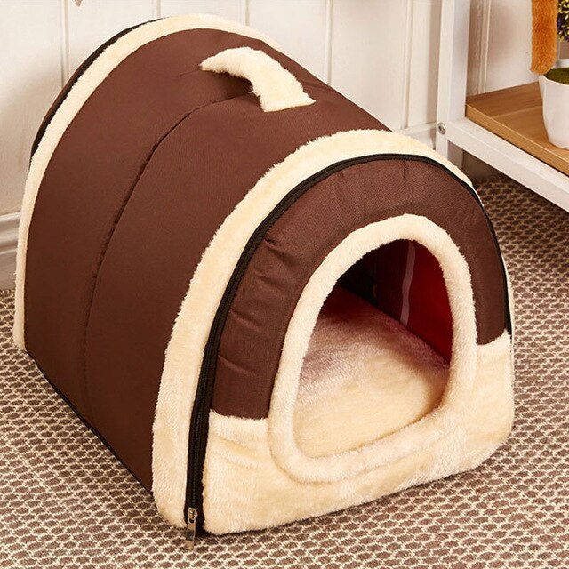 Dog House Kennel With Dog Bed