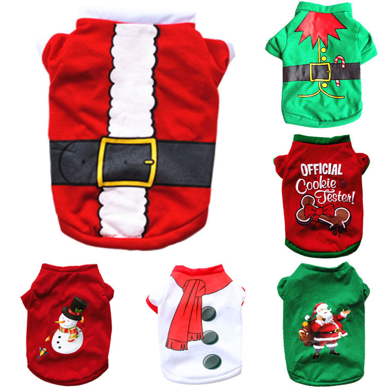Christmas Dog Costumes Apparel