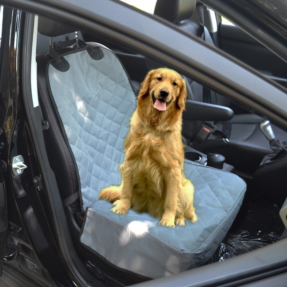 Waterproof Soft Quilting Dog Car Front Seat Cover