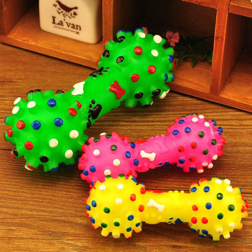 Rubber Squeaky Dog Chew Toy