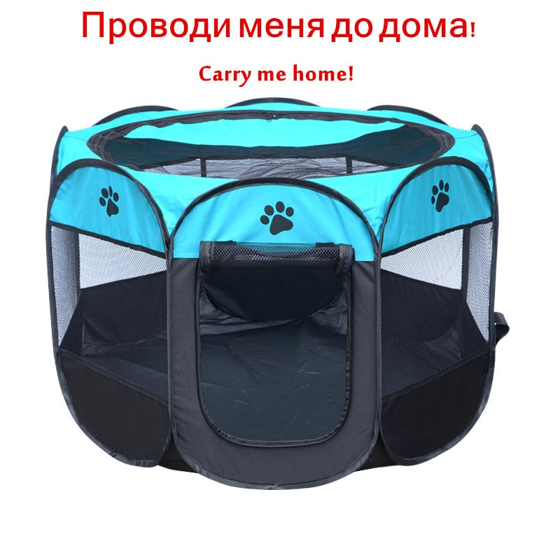 Indoor/Outdoor Folding Pet Carrier Playpen