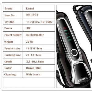 Rechargeable Professional Dog Hair Trimmer Set