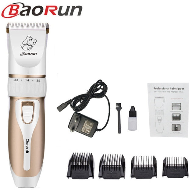 Professional Dog Hair Trimmer Set With Grooming Clippers