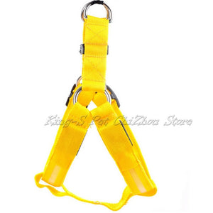 Nylon Pet Safety LED Harness For Dogs