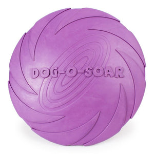 Interactive Rubber Flying Dog Disc Frisbie