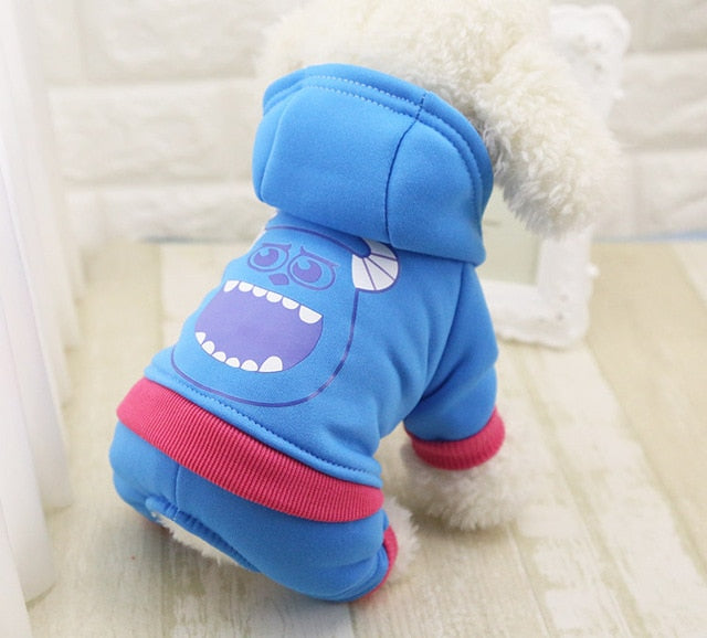 Soft Cotton Four-legs Hoodie Outfits