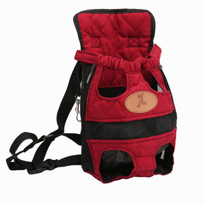 Dog Carriers Red Travel Breathable Soft Dog Backpack