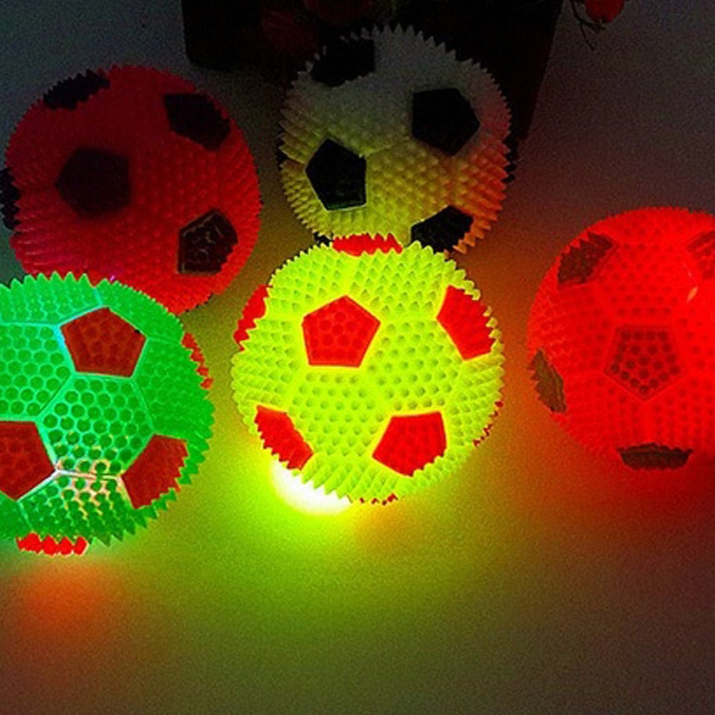 Squeaky Flashing Light Up Dog Ball Toy