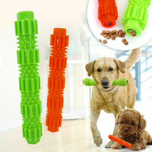 Dog Training Rubber Squeaky Teeth Cleaner Toy