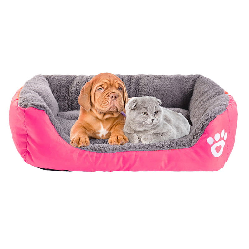 Waterproof Bottom Soft Fleece Bed