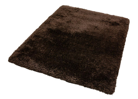 Image of Luxe vloerkleed Easy Living Plush Shaggy Dark Chocolate Vloerkledentrends hoogpolig bruin tapijt