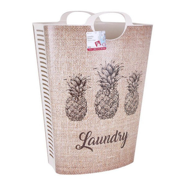 Laundry Basket Pineapple 58 L (46 X 36 x 65 cm) -   - dailymegadeals-com