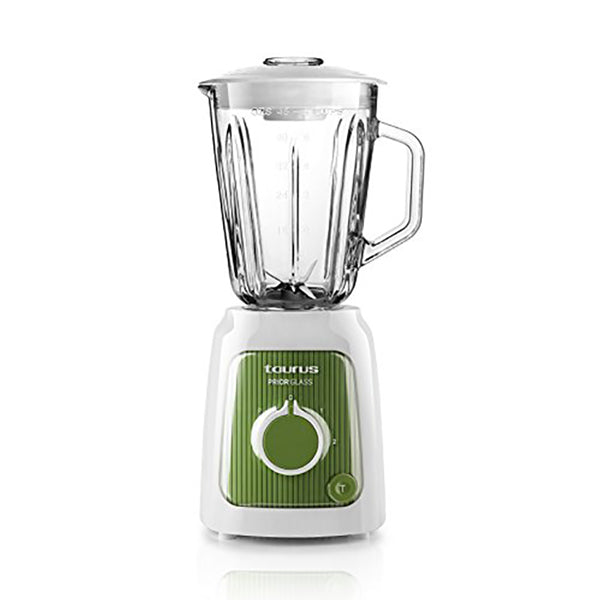 Cup Blender Taurus Prior Glass 1,5 L 600W White Green