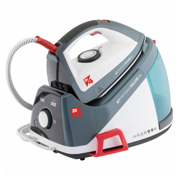 Steam Generating Iron DI4 Jet Pressing Deluxe 6B 1,6 L 125 g/min 6 BAR 2350W White Grey