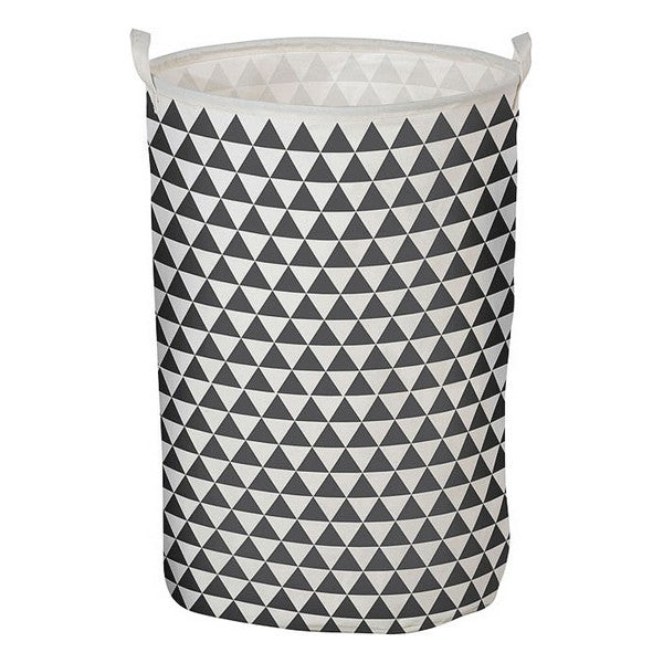 Laundry basket Triangle White Grey 111119