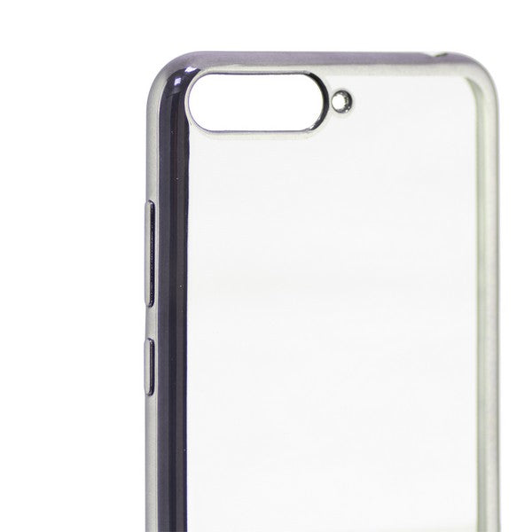 Mobile cover Huawei Y6 2018 KSIX Flex Metal Transparent
