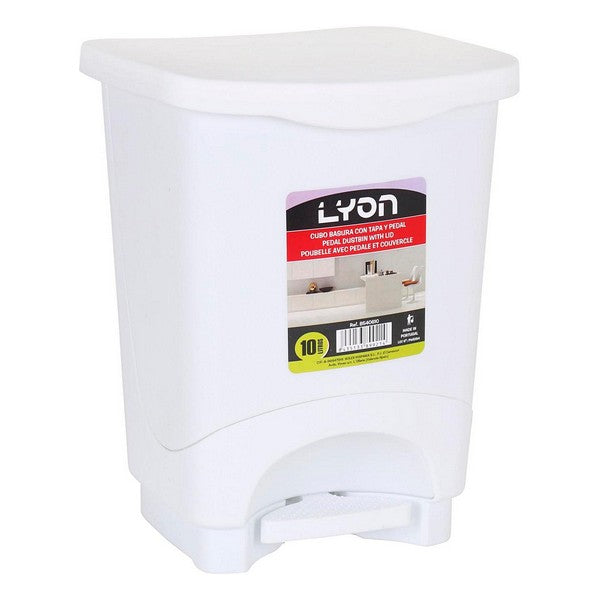 Waste bin with pedal Lyon White