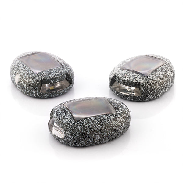 LED Solar Stone Garden (Pack of 3) -   - dailymegadeals-com