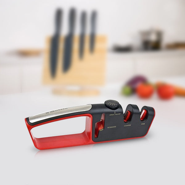 Knife and Scissors Sharpener Quttin Black Red (25,6 x 4 x 7,9 cm)