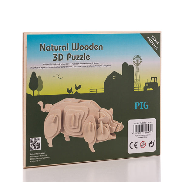 Granja Junior Knows 3D Wooden Animals Puzzle -   - dailymegadeals-com