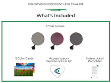 Load image into Gallery viewer, Colorblind Lenses Trial Kit
