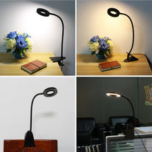 Load image into Gallery viewer, Clip On Gooseneck Desk Lamp