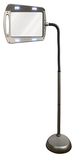 Task Vision LED Floor Lamp w/2.5x Magnifier