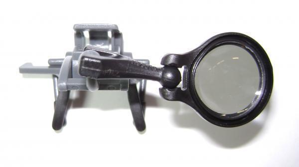 CARSON CLIP ON 5X AND 7X EYEGLASSES LOUPE