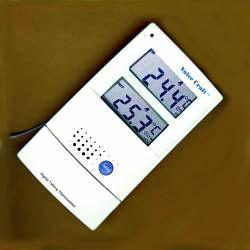 DAILY LIVING TALKING INDOOR - OUTDOOR THERMOMETER..