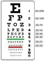 EYE CHART SNELLEN 10 FT
