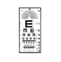 EYE CHART TUMBLING E 20 FT