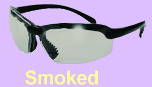 SPORT SMOKED LENS SAFETY GLASSES BIFOCAL +1.5
