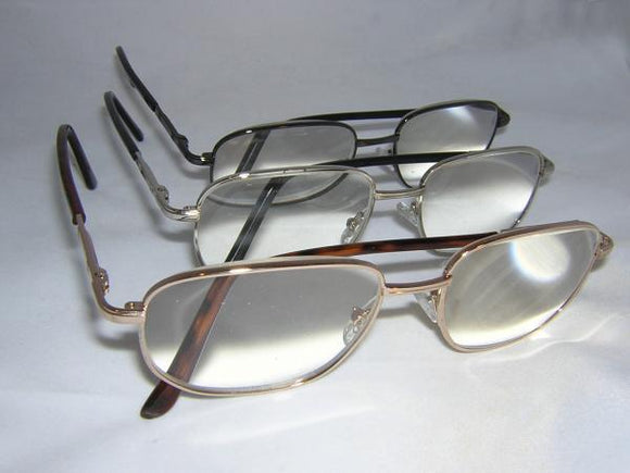 READING GLASSES UNISEX ALLOY GOLD +4.50
