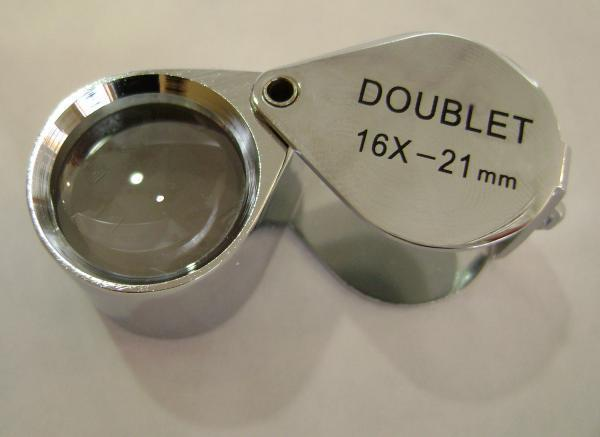 SELSI 16X DOUBLET JEWELERS LOUPE CHROME