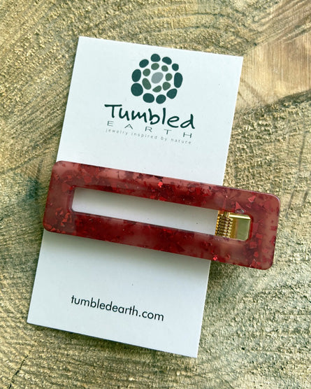 Red Confetti Barrette