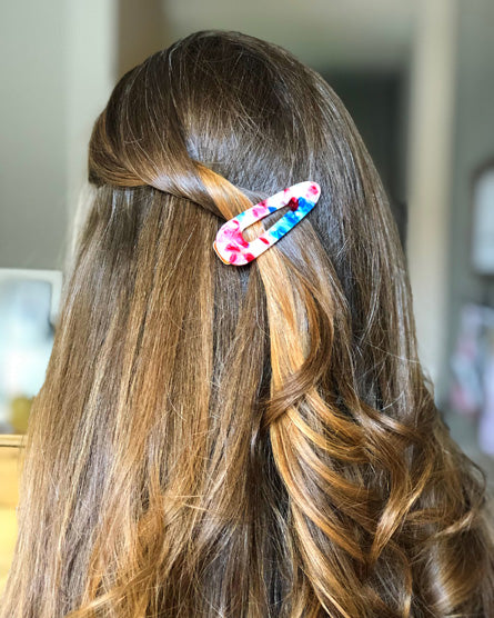 Rocket Popsicle Marble Barrette