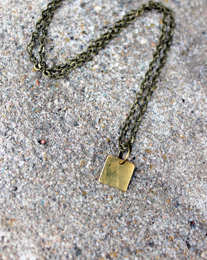 Raw Brass Square Choker