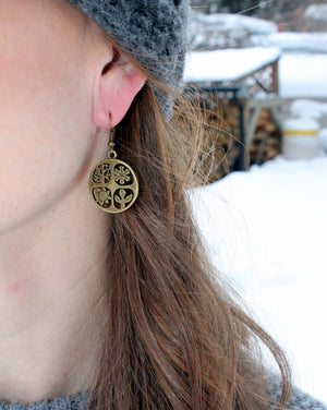 Antique Brass Seasons Earrings