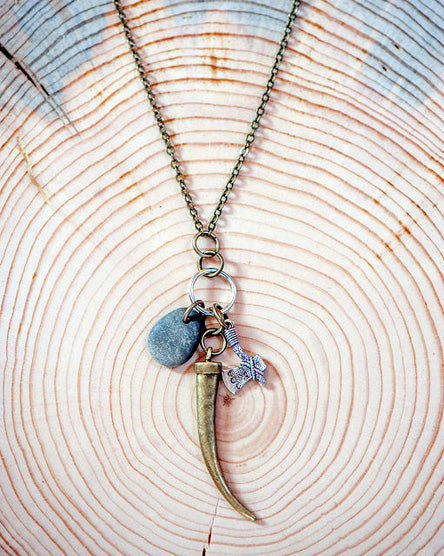 Bear Claw Charmed Necklace