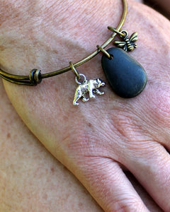 Bee & Bear Bangle Bracelet