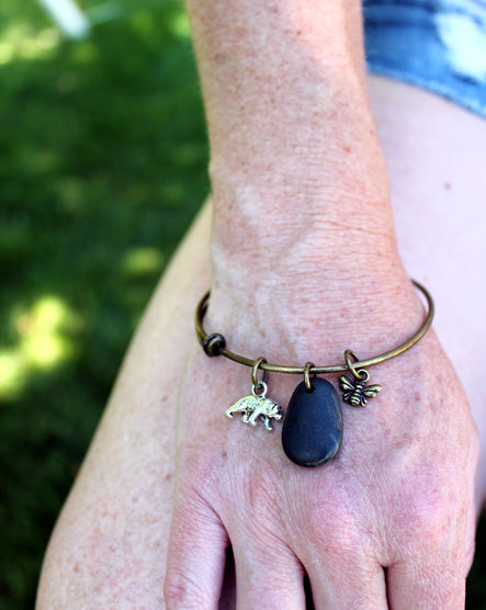Bee + Bear Bangle Bracelet