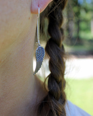 Eagle Wing Silver Earrings