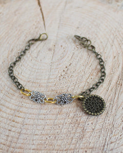 Mixed Metal Dream Catcher Bracelet