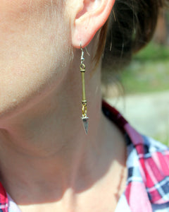 Silver Spike Mixed Metal Earrings