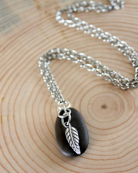 Charmed Guardian Silver Leaf Necklace